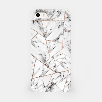 Miniaturka White Marble Rose Gold Geometric Glam #1 #geo #decor #art iPhone-Hülle, Live Heroes