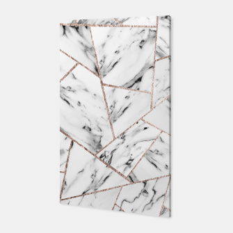 Miniaturka White Marble Rose Gold Geometric Glam #1 #geo #decor #art Canvas, Live Heroes