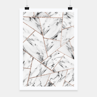 Miniaturka White Marble Rose Gold Geometric Glam #1 #geo #decor #art Plakat, Live Heroes