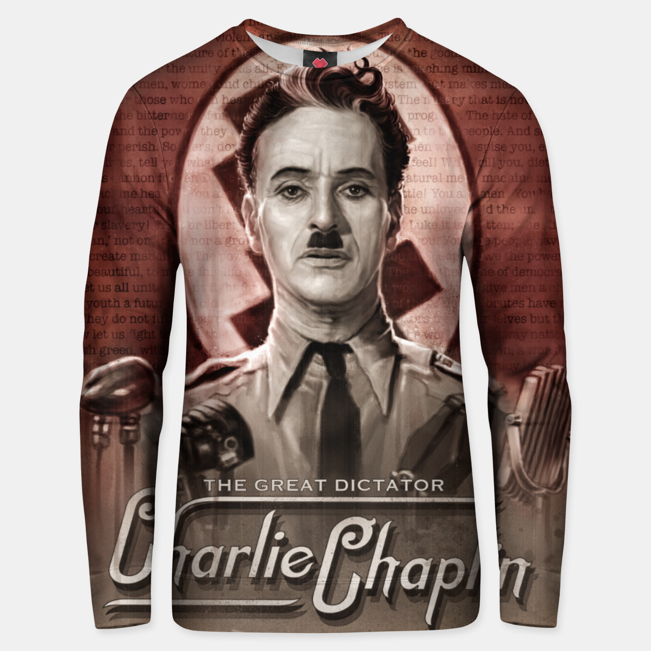Image of Charlie Chaplin - Great Dictator Unisex sweater - Live Heroes