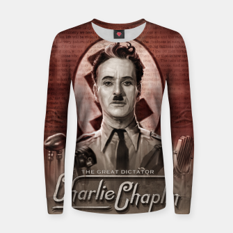 Thumbnail image of Charlie Chaplin - Great Dictator Women sweater, Live Heroes