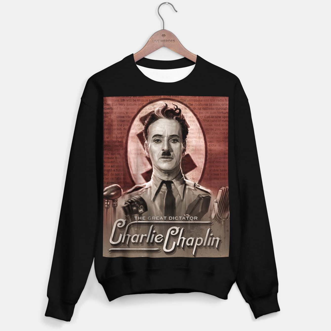Image of Charlie Chaplin - Great Dictator Sweater regular - Live Heroes
