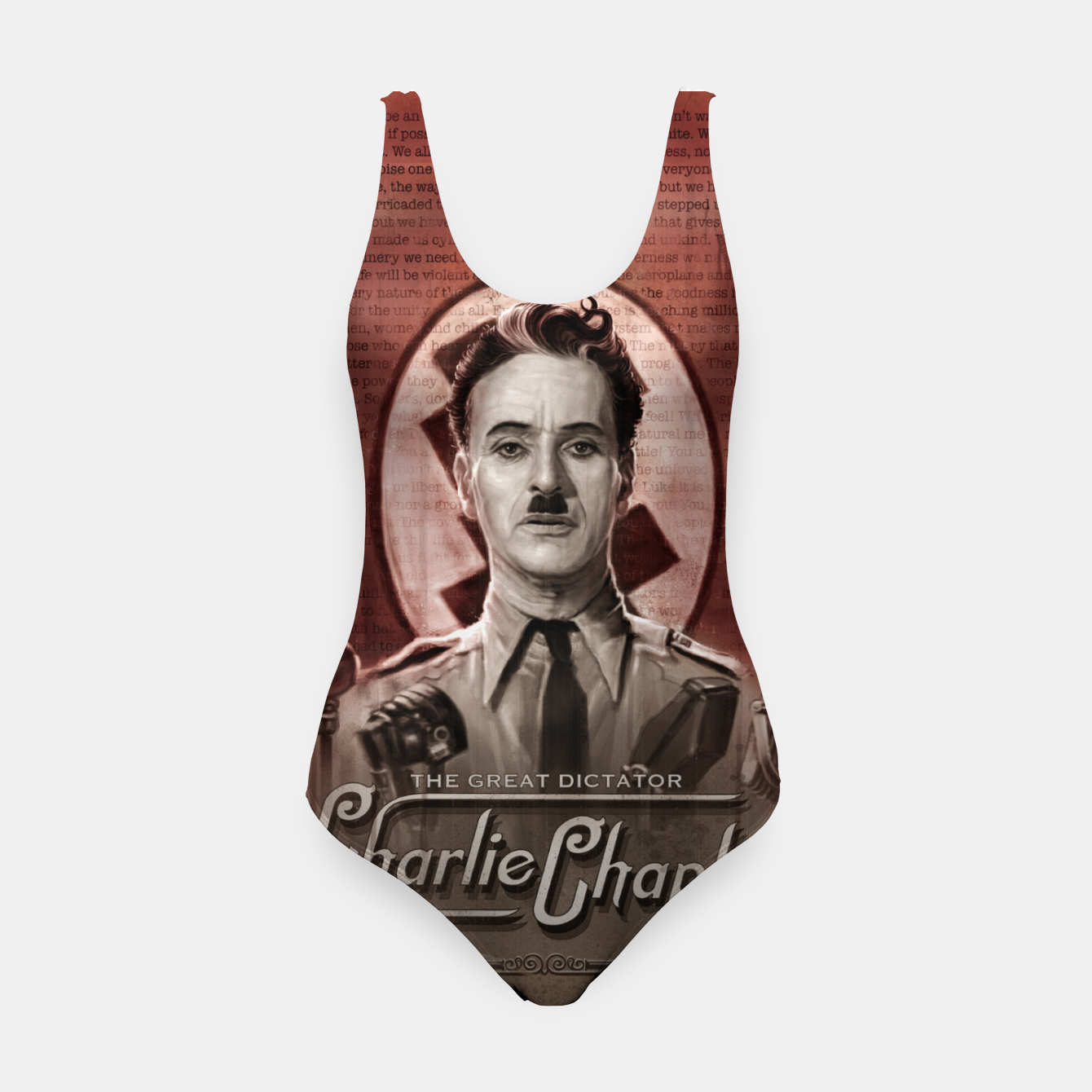 Image of Charlie Chaplin - Great Dictator Swimsuit - Live Heroes
