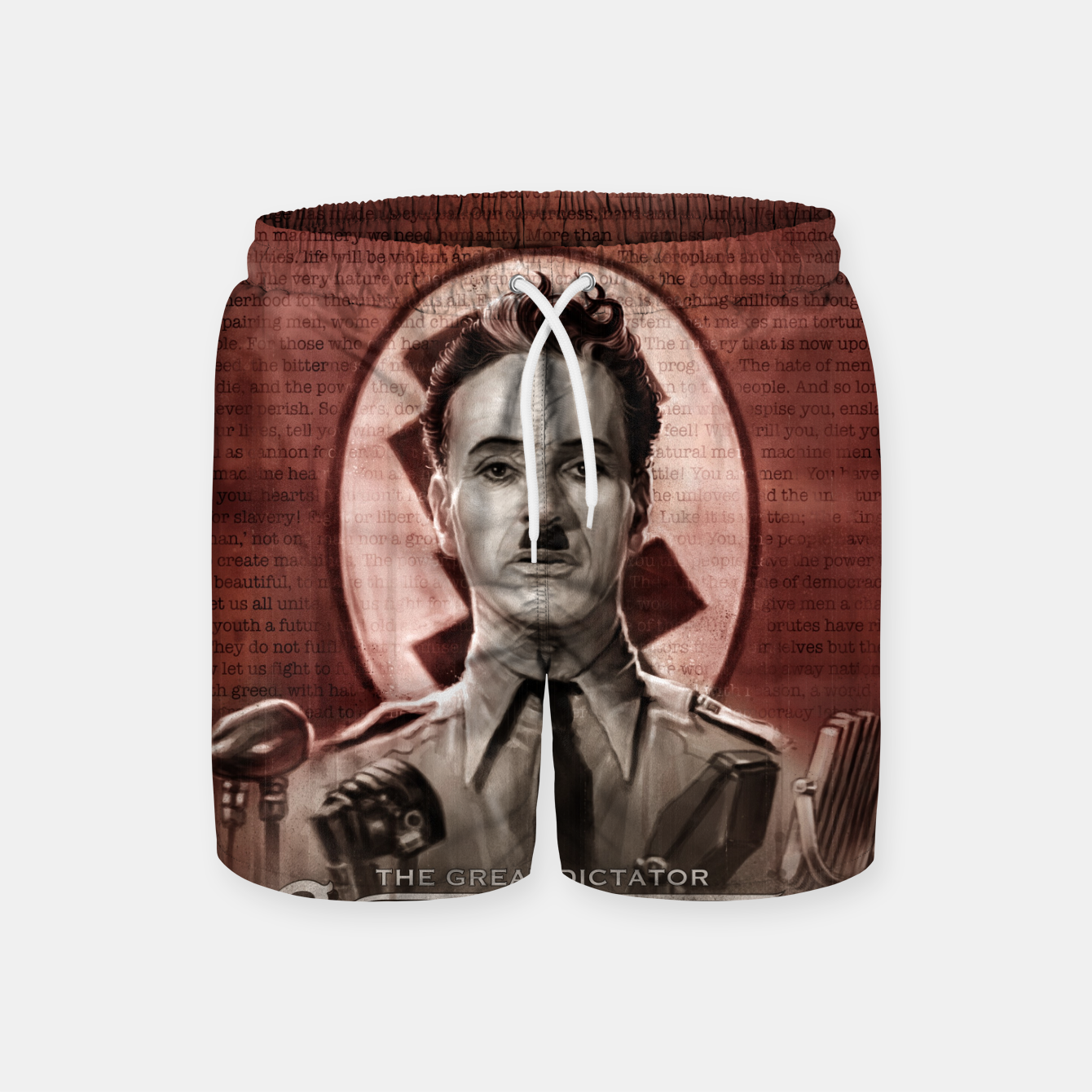 Image of Charlie Chaplin - Great Dictator Swim Shorts - Live Heroes