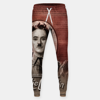 Thumbnail image of Charlie Chaplin - Great Dictator Sweatpants, Live Heroes