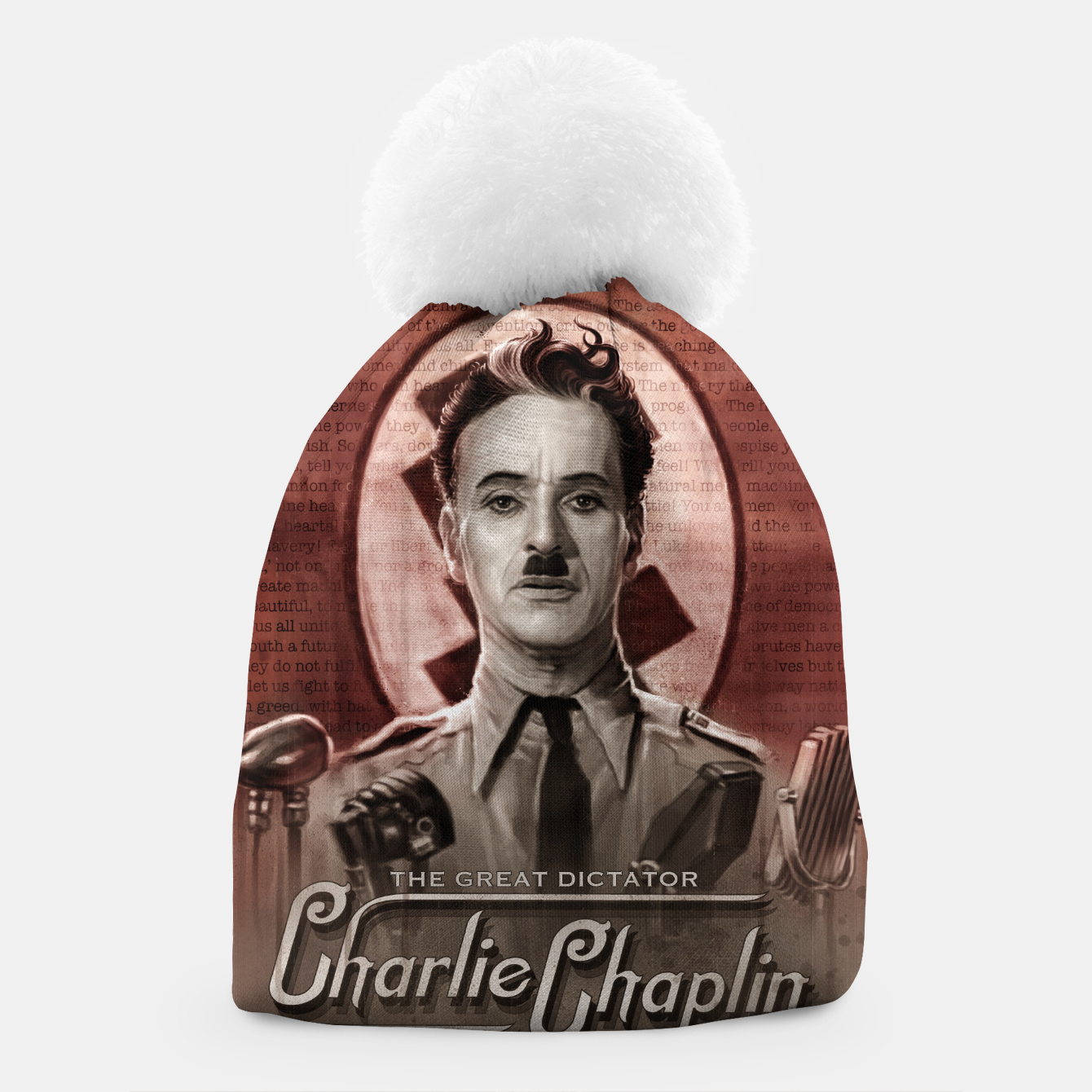 Image of Charlie Chaplin - Great Dictator Beanie - Live Heroes