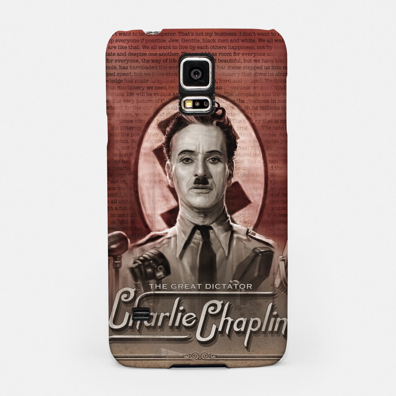 Image of Charlie Chaplin - Great Dictator Samsung Case - Live Heroes