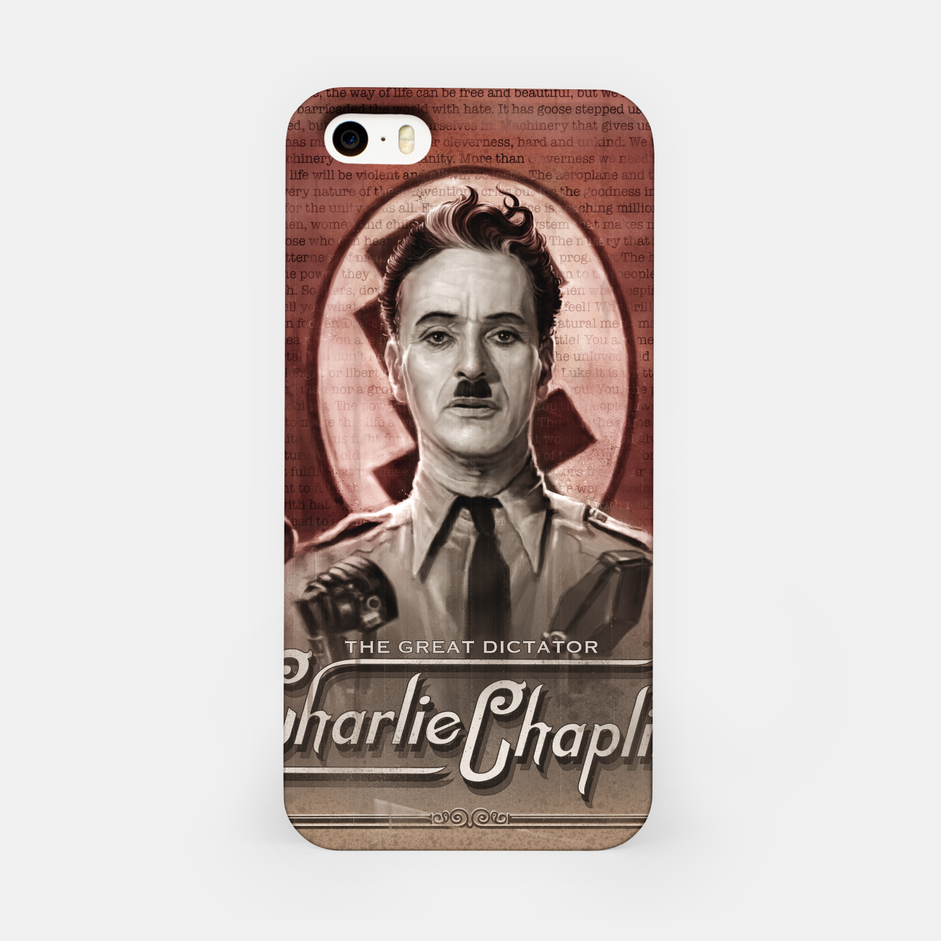 Image of Charlie Chaplin - Great Dictator iPhone Case - Live Heroes