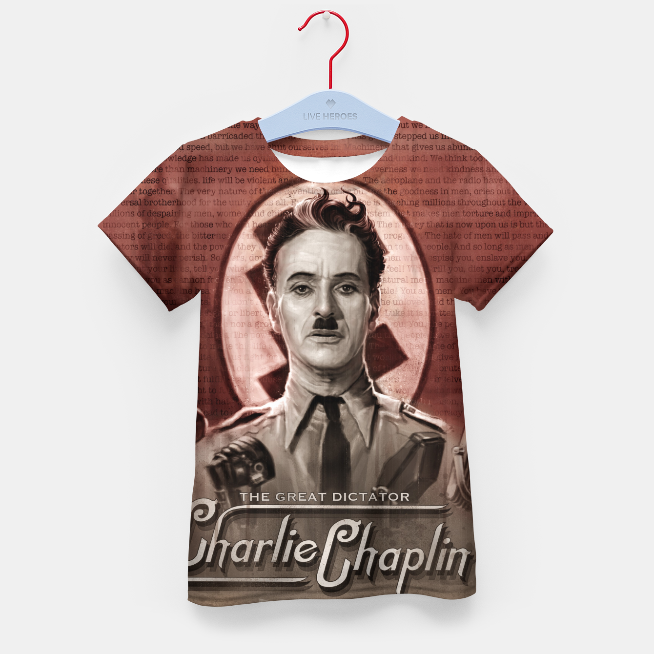 Image of Charlie Chaplin - Great Dictator Kid's t-shirt - Live Heroes