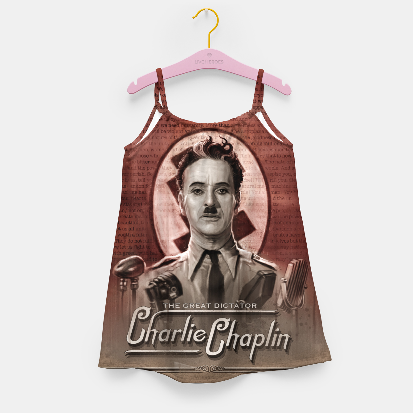 Image of Charlie Chaplin - Great Dictator Girl's dress - Live Heroes