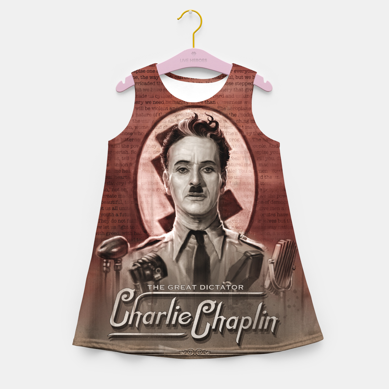 Image of Charlie Chaplin - Great Dictator Girl's summer dress - Live Heroes