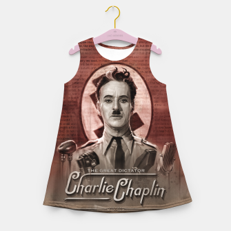 Thumbnail image of Charlie Chaplin - Great Dictator Girl's summer dress, Live Heroes