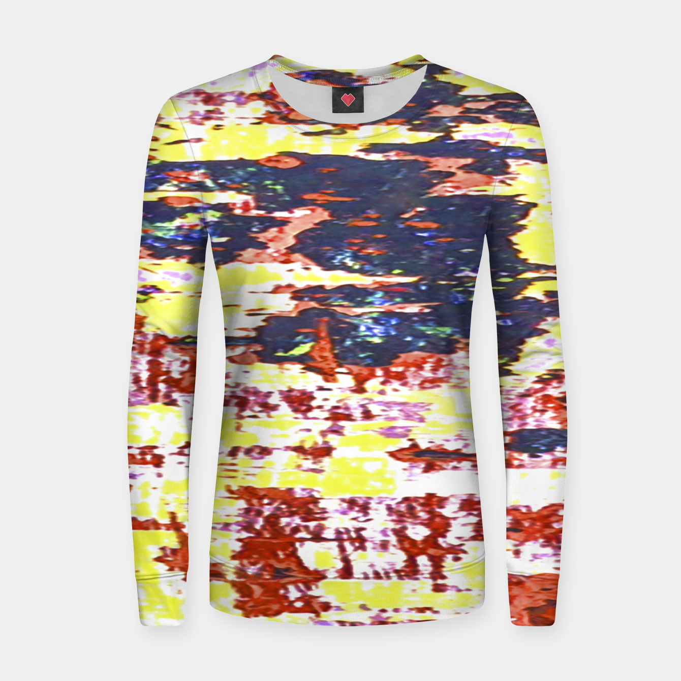 Zdjęcie Multicolored Abstract Grunge Texture Print Women sweater - Live Heroes