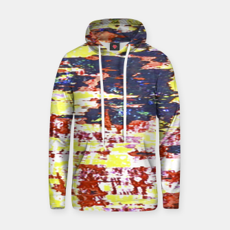 Miniaturka Multicolored Abstract Grunge Texture Print Hoodie, Live Heroes