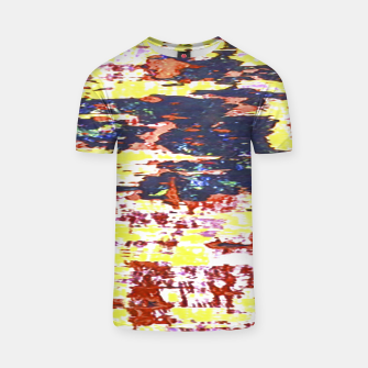Multicolored Abstract Grunge Texture Print T-shirt obraz miniatury