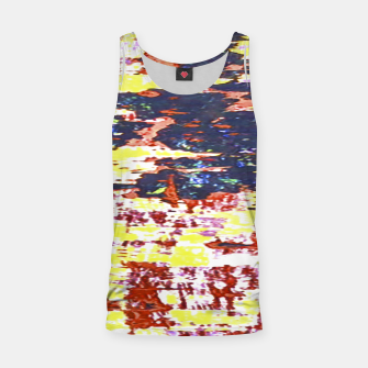 Multicolored Abstract Grunge Texture Print Tank Top obraz miniatury