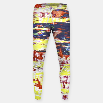 Multicolored Abstract Grunge Texture Print Sweatpants obraz miniatury