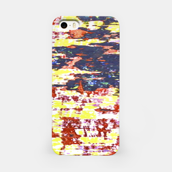 Multicolored Abstract Grunge Texture Print iPhone Case obraz miniatury
