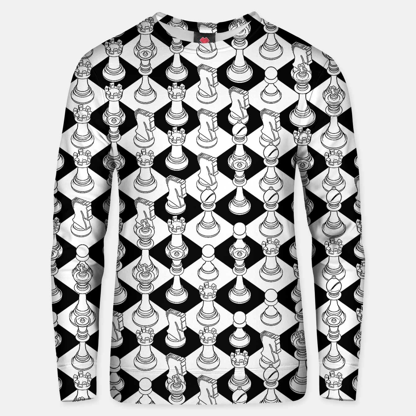 Image of Isometric Chess WHITE Unisex sweater - Live Heroes