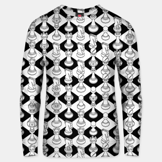 Isometric Chess WHITE Unisex sweater Bild der Miniatur
