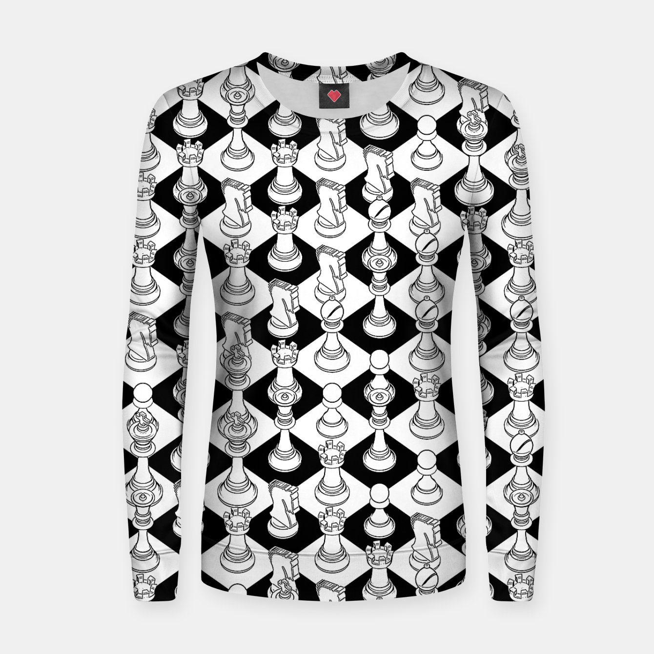 Foto Isometric Chess WHITE Women sweater - Live Heroes