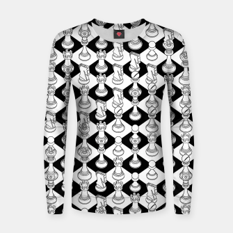 Thumbnail image of Isometric Chess WHITE Women sweater, Live Heroes