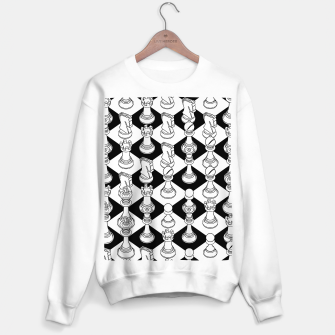 Isometric Chess WHITE Sweater regular Bild der Miniatur