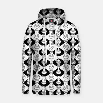 Thumbnail image of Isometric Chess WHITE Hoodie, Live Heroes