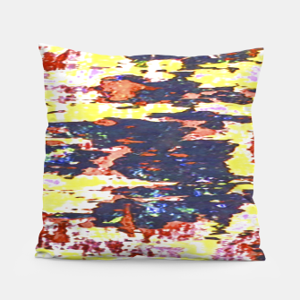 Multicolored Abstract Grunge Texture Print Pillow obraz miniatury