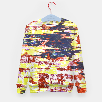 Multicolored Abstract Grunge Texture Print Kid's sweater obraz miniatury