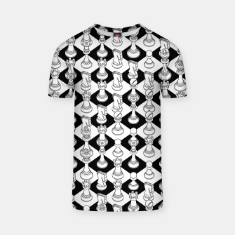 Miniatur Isometric Chess WHITE T-shirt, Live Heroes