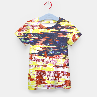 Multicolored Abstract Grunge Texture Print Kid's t-shirt obraz miniatury