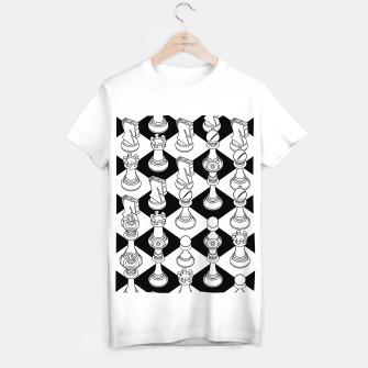 Isometric Chess WHITE T-shirt regular Bild der Miniatur