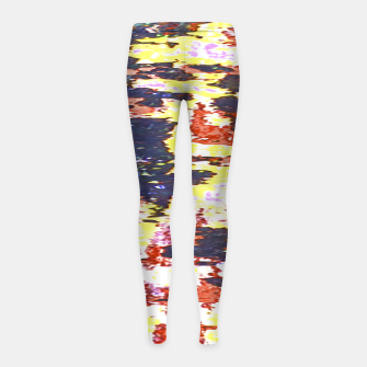 Multicolored Abstract Grunge Texture Print Girl's leggings obraz miniatury