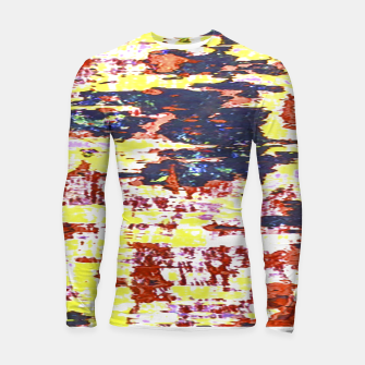 Multicolored Abstract Grunge Texture Print Longsleeve rashguard  obraz miniatury