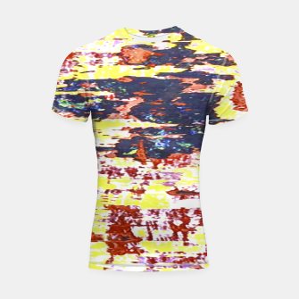Multicolored Abstract Grunge Texture Print Shortsleeve rashguard obraz miniatury