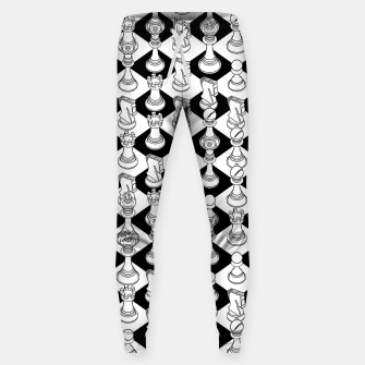 Isometric Chess WHITE Sweatpants Bild der Miniatur