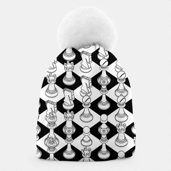 Thumbnail image of Isometric Chess WHITE Beanie, Live Heroes