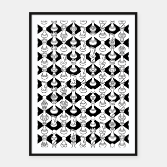 Miniatur Isometric Chess WHITE Framed poster, Live Heroes