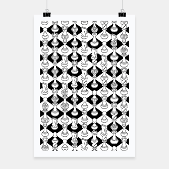 Thumbnail image of Isometric Chess WHITE Poster, Live Heroes