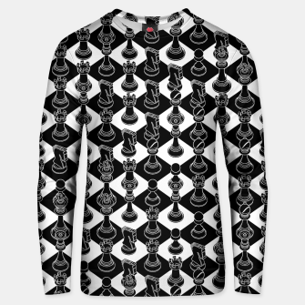 Isometric Chess BLACK Unisex sweater Bild der Miniatur