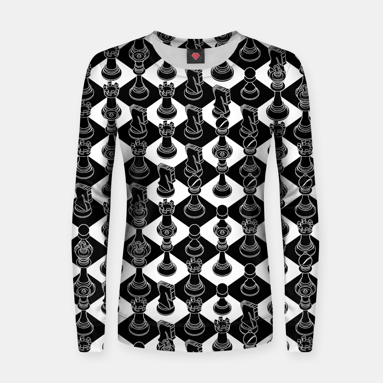 Image of Isometric Chess BLACK Women sweater - Live Heroes