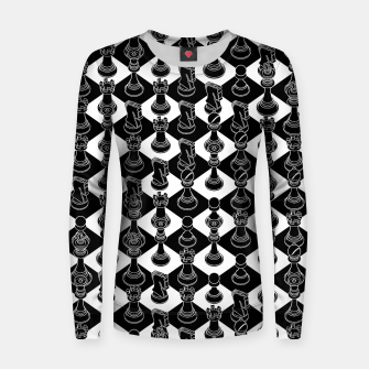 Thumbnail image of Isometric Chess BLACK Women sweater, Live Heroes