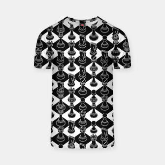Isometric Chess BLACK T-shirt Bild der Miniatur