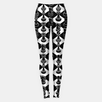 Isometric Chess BLACK Leggings Bild der Miniatur