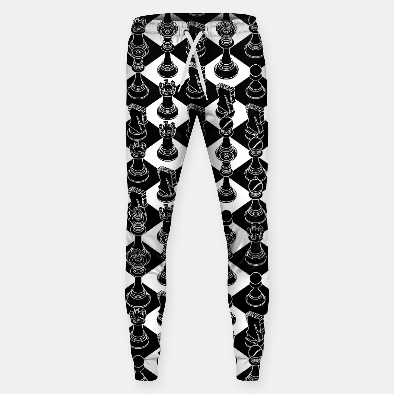 Image of Isometric Chess BLACK Sweatpants - Live Heroes