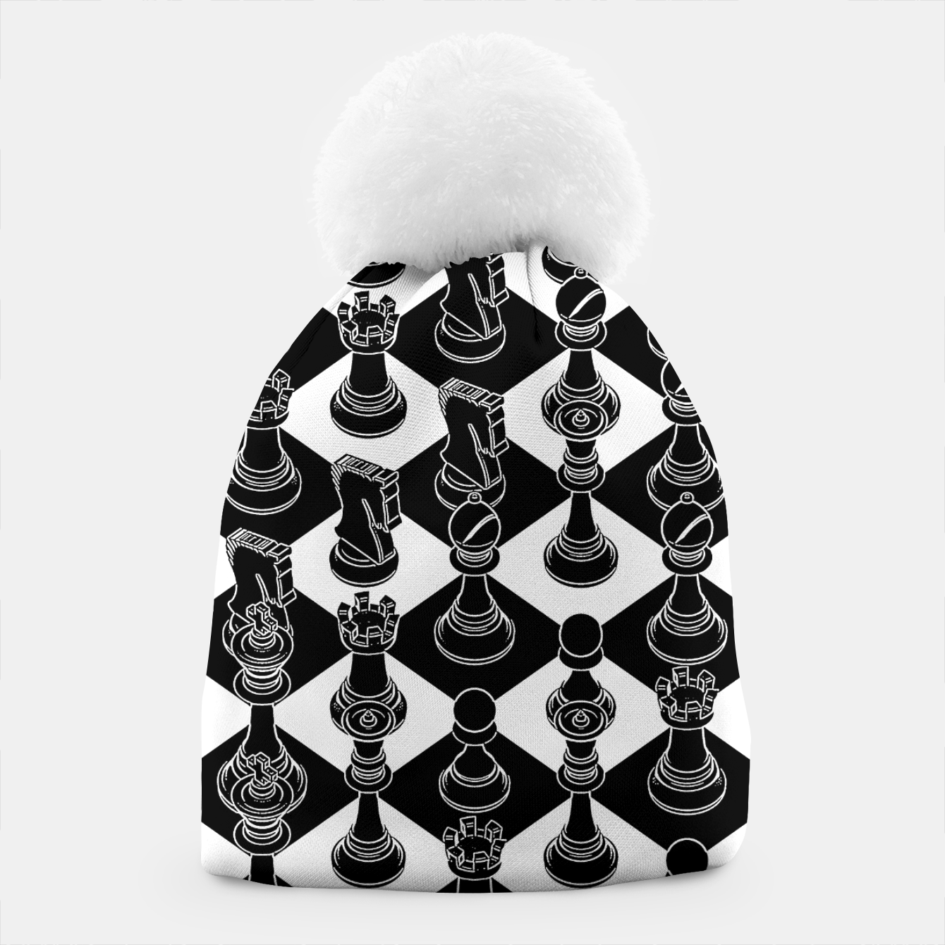 Image of Isometric Chess BLACK Beanie - Live Heroes