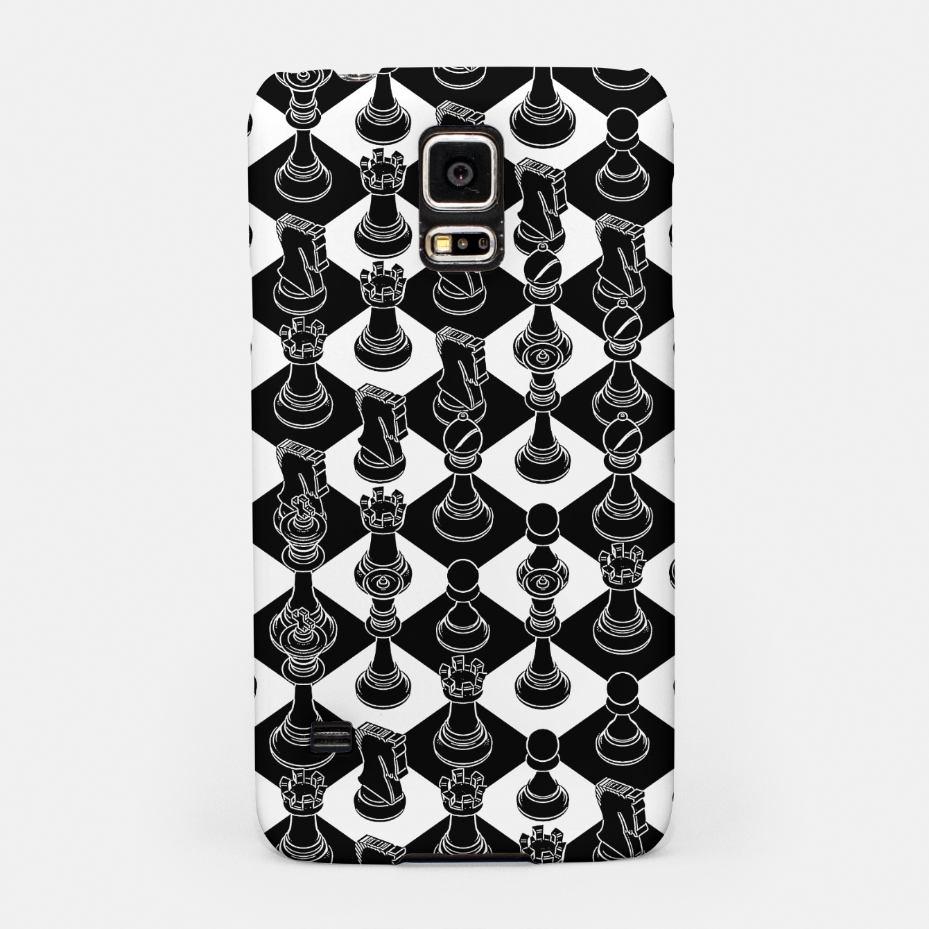 Image of Isometric Chess BLACK Samsung Case - Live Heroes