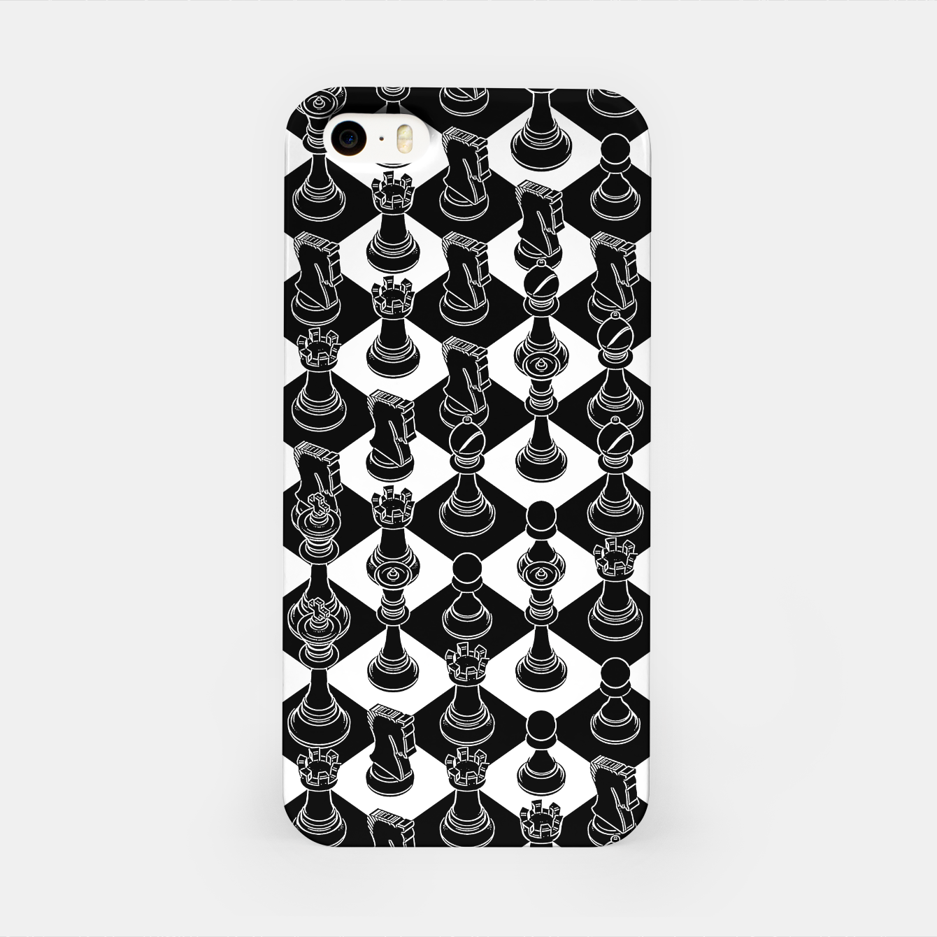 Image of Isometric Chess BLACK iPhone Case - Live Heroes