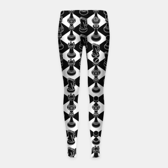Miniatur Isometric Chess BLACK Girl's leggings, Live Heroes